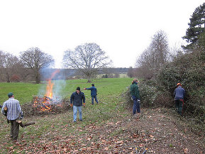 Photo - Burning scrub at Ickworth